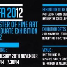2012 Dec - MFA Graduate Exhibition