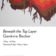 Beneath the Top layer exhibition invitation