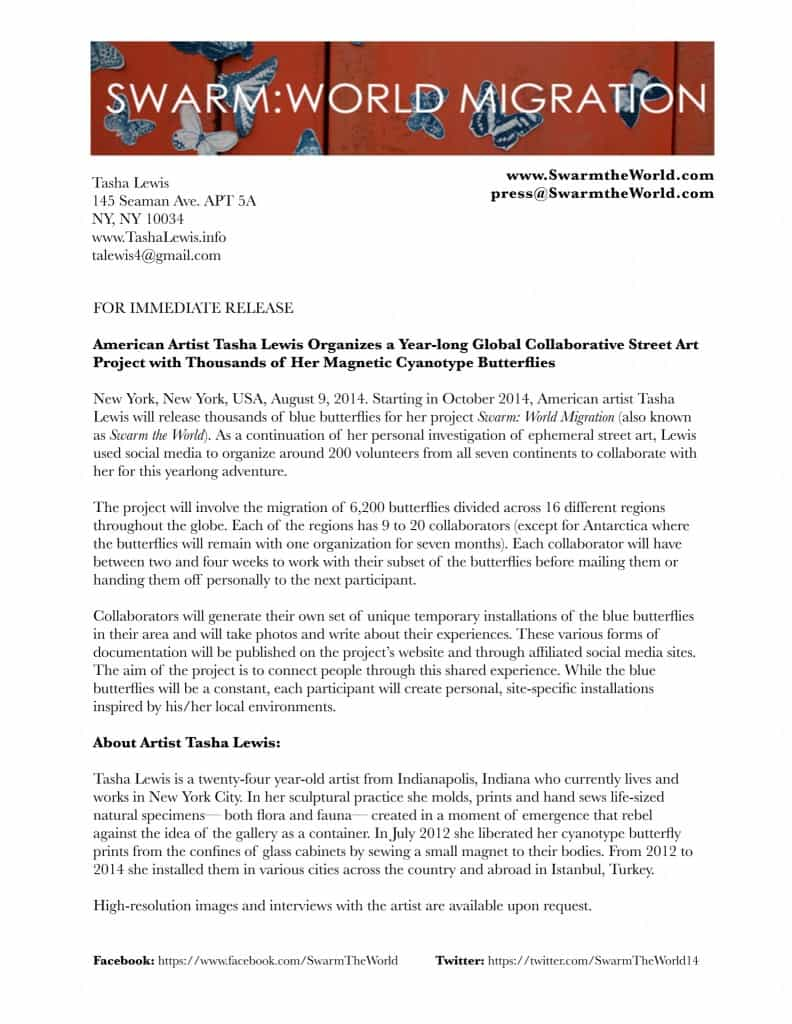 Swarm Press Release